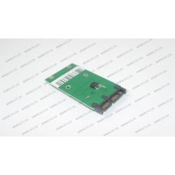 Переходник для ноутбуков mSATA на microSATA (для подключения SSD с разъемом mSATA к разъёму microSATA (вместо жестких дисков 1.8 SATA интерфейса))
