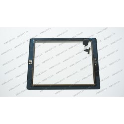 Тачскрин (сенсорное стекло) для Apple iPad 2, 9.7, черный, ORIGINAL (with IC Flex Connector, Home Button and Home Flex)