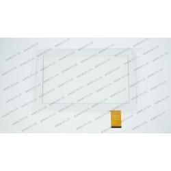 Тачскрин (сенсорное стекло) DH-1019A1-PG-FPC075, 10,1, внешний размер 256*159 мм, рабочий размер 223*126 мм, 50 pin, белый