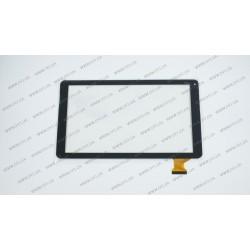 Тачскрин (сенсорное стекло) HXD-1027 SR, 10,1,  внешний размер 255*146 мм, рабочая часть 224*126 мм, 50pin, черный