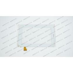 Тачскрин (сенсорное стекло) YDT1220-A1 (ВЕРСИЯ 2, с прорезью под динамик), 7, внешний размер 188*119 мм, рабочая часть 153*90 мм, белый