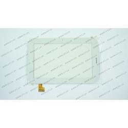Тачскрин (сенсорное стекло) YDT1206-A2, 7,  внешний размер 187*118 мм, рабочий размер 154*91 мм, белый