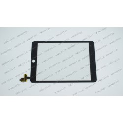 Тачскрин (сенсорное стекло) для iPad Mini 3, 7.85, черный, ORIGINAL (with IC Flex Connector)