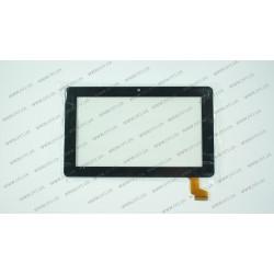 Тачскрин (сенсорное стекло) DWL-CTP-020 9, внешний размер 183x141мм, рабочий размер 112x87 мм, чёрный