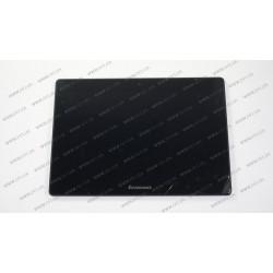 Тачскрин (сенсорное стекло) + матрица (BP101WX1/HJ101IA-01) для Lenovo IdeaTab S6000, 10.1, черный, с рамкой
