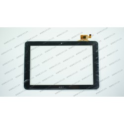 Тачскрин (сенсорное стекло) для Digma iDsQ11, YTG-P10009-F1 V1.0, 10,1, внешний размер 259*168 мм, рабочий размер 217*137 мм, 12 pin, черный
