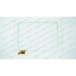 Тачскрин (сенсорное стекло) для Digma iDsQ11, YTG-P10009-F1 V1.0, 10,1, внешний размер 259*168 мм, рабочий размер 217*137 мм, 12 pin, белый