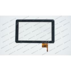 Тачскрин (сенсорное стекло) OPD-TPC0027, 9, размер 233*141 мм, 12 pin, чёрный, камера с правой стороны