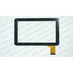 Тачскрин (сенсорное стекло) FPC-TP090005(98VB)-00, 9, внешний размер 233*142 мм, рабочая часть 198*112 мм, 50 рin, черный