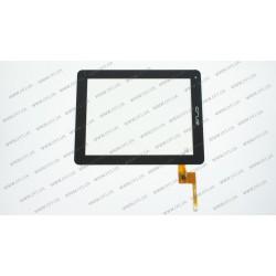 Тачскрин (сенсорное стекло) TOPSUN_E0011_A3, 9,7, внешний размер 236*184 мм, рабочая область 196*147 мм, 6 рin, черный