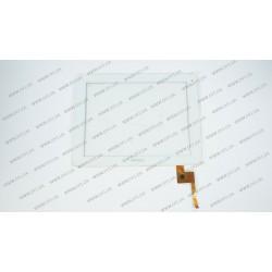 Тачскрин (сенсорное стекло) TOPSUN_E0011_A3, 9,7, внешний размер 236*184 мм, рабочая область 196*147 мм, 6 рin, белый