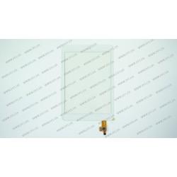 Тачскрин (сенсорное стекло) для Mystery MID-781, CTP078005-02A-V1, 7, внешний размер 197x133 мм, рабочий размер 161x121 мм, 10pin, белый