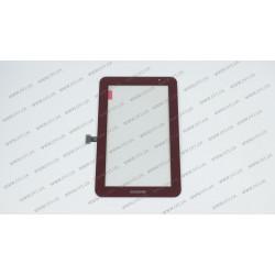 Тачскрин (сенсорное стекло) для Samsung Galaxy Tab 2,  P3110,  7,  red