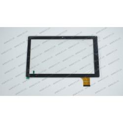 Тачскрин (сенсорное стекло) ZD9193-101 VER.101, 10,1,  внешний размер 251*150 мм, рабочий размер 224*126 мм, 45 pin, черный