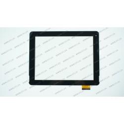 Тачскрин (сенсорное стекло) для PiPo M6, F-WGJ97104-V2, 9, внешний размер 236*182 мм, рабочий размер 192*148 мм, 54 pin, черный