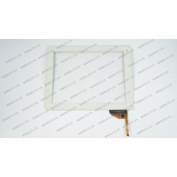 Тачскрин (сенсорное стекло) для Globex GU903C, AD-C-970574-FPC, 9.7, внешний размер 236*183 мм, рабочий размер 197*147 мм 12 pin, белый