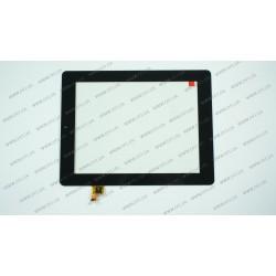 Тачскрин (сенсорное стекло) для Taipower P85a, PB80DR8371, 8, внешний размер 204*159 мм, рабочая часть 162х121мм, 6 pin, черный