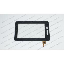Тачскрин (сенсорное стекло) DR-F-07029, 7, внешний размер 194*119 мм, рабочий размер 154*86 мм, 12 pin, черный