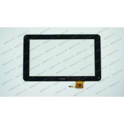 Тачскрин (сенсорное стекло) для Wolder Mitab Iron 9, QSD E-C9011-01, 9, внешний размер 236*143 мм, рабочая часть 198*116 мм, черный