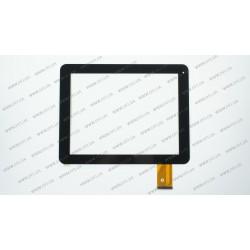 Тачскрин (сенсорное стекло) для Yuandao Window N90, PB97DR8073-04, 9,7, внешний размер 236*184 мм, рабочая часть 197*148мм, 54 рin, черный