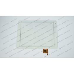 Тачскрин (сенсорное стекло) для Texet TM-9757 3G, PB97A8592-R2, 10, внешний размер 236*184 мм, рабочая область 196*147 мм, 6 pin, белый