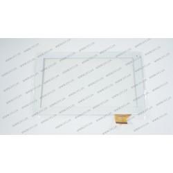 Тачскрин (сенсорное стекло) для Globex GU1011C, DH-0901A1-FPC10, 10,1, внешний размер 257*160 мм, рабочий размер 223*125 мм, 50 pin, белый