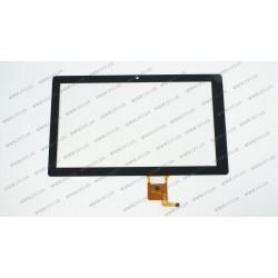Тачскрин (сенсорное стекло) для Goclever Terra 101, QSD E-C10037-02, 10,1, внешний размер 252*150 мм, рабочая часть 224*125 мм, 10 pin, черный