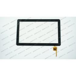 Тачскрин (сенсорное стекло) для GoClever TAB A103, TOPSUN_M1003_A1, 10,1, внешний размер 250*155 мм, рабочая область 222*124 мм, 6 pin, черный