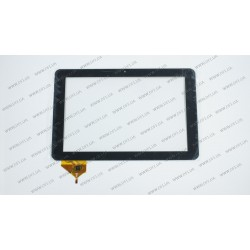 Тачскрин (сенсорное стекло) для Verico Uni Pad RP-UDM02A, WJ-DR10013-FPC, 10,1, внешний размер 256*156 мм, рабочая часть 227*135 мм, 6 pin, черный
