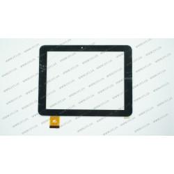 Тачскрин (сенсорное стекло) для Pixus Play Four, PINGBO PB80DR8286, 8, размер 197*150 мм, 40 pin, черный