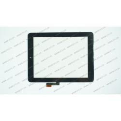 Тачскрин (сенсорное стекло) для SG5374-FPC-V2, 8, внешний размер 197*150 мм, внутренний размер 162*122 мм, 51 pin, черный