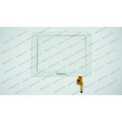 Тачскрин (сенсорное стекло) для IconBIT NetTAB PARUS II, TOPSUN_D0001_A2, 8, внешний размер 196*150 мм, рабочий размер 163*122 мм, 12 pin, белый