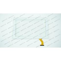 Тачскрин (сенсорное стекло) CZY6802B01-FPC,  9, размер 232x141 мм, рабочий размер 197*111 мм, 50pin, белый