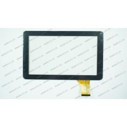 Тачскрин (сенсорное стекло) DH-0901A1-FPC03-02, 9, внешний размер 231*140 мм, внутренний размер 197*110 мм, 50 pin, черный
