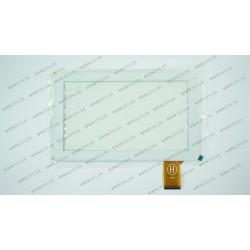 Тачскрин (сенсорное стекло) для Reellex Tab-09E-01, XC-PG0900-032-A0-FPC, 9, внешний размер 233*143 мм, рабочая часть 197*111 мм, 50 pin, белый