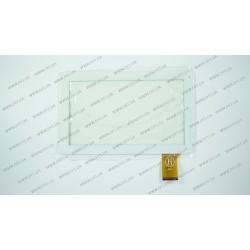 Тачскрин (сенсорное стекло) для Reellex Tab-09E-01, XC-PG0900-032-AO-FPC, 9, внешний размер 233*143 мм, рабочая часть 197*111 мм, 50 pin, белый