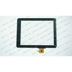Тачскрин (сенсорное стекло) для C237180A1-GG FPC613DR, 9,7,  внешний размер 237*180 мм, внутренний размер 198*149 мм, 6 pin, черный