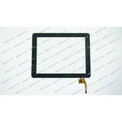 Тачскрин (сенсорное стекло) для Prestigio MultiPad PMP5597D, 0371-V03-A, 9,7, внешний размер 237*184 мм, рабочая часть 197*148 мм, 12 рin, черный