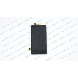 Модуль матрица+тачскрин для Nokia Lumia 820, black