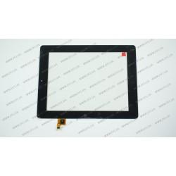 Тачскрин (сенсорное стекло) CTP080088-02, 8, внешний размер 200*153 мм, рабочая часть 163*123 мм, черный