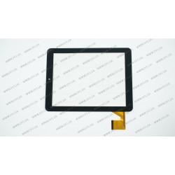 Тачскрин (сенсорное стекло) для Gmini MagicPad H807S, YDT1177-A1, 8,  внешний размер 193*145 мм, рабочая часть 162*122 мм, 40pin, черный