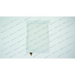 Тачскрин (сенсорное стекло) для Modecom FreeTAB 1001, DY-F-07042-V2, 7,85, внешний размер 194*133 мм, рабочая часть 160*119 мм,  6 pin, белый