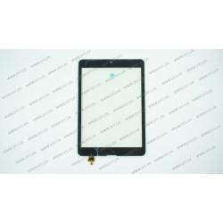 Тачскрин (сенсорное стекло) для Modecom FreeTAB 1001, DY-F-07042-V2, 7,85, внешний размер 194*133 мм, рабочая часть 160*119 мм,  6 pin, черный
