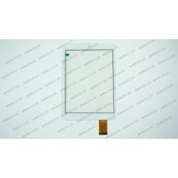 Тачскрин (сенсорное стекло) FPC-79F2-V02 BLX, 7,9, внешний размер 197*132 мм, рабочий размер 162*122 мм, 40pin, белый