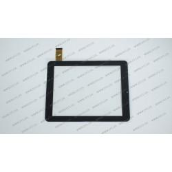 Тачскрин (сенсорное стекло) PB80M868-VER0 RBD, 8, внешний размер 196*148 мм, рабочая часть 163*122 мм, 32 pin, черный