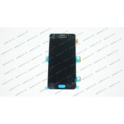 Модуль матрица + тачскрин  для Samsung Galaxy A3 2016 Duos (SM-A310), black (OLED)