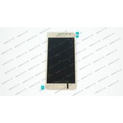 Модуль матрица + тачскрин  для Samsung Galaxy A3 (A300F/DS, A300FU/DS, A300H/DS), golden (TFT)