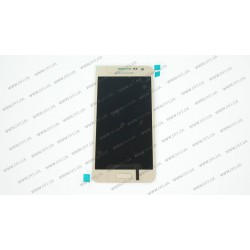 Модуль матрица+тачскрин  для Samsung Galaxy A3 (A300H/DS), golden