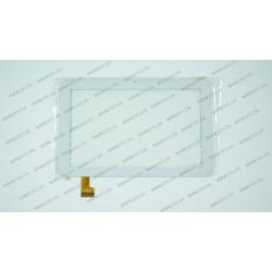 Тачскрин (сенсорное стекло) YDT1220-A1 (Версия 2, без прорези), 7, внешний размер 188*119 мм, рабочий размер 153*90 мм, белый