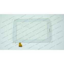 Тачскрин (сенсорное стекло) YDT1220-A1 (Версия 1 с прорезью), 7, внешний размер 188*118 мм, рабочий размер 153*90 мм, белый